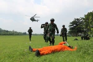 Yonko 462 Paskhas Dukung Pelaksanaan Latihan Bido Gesit 2021