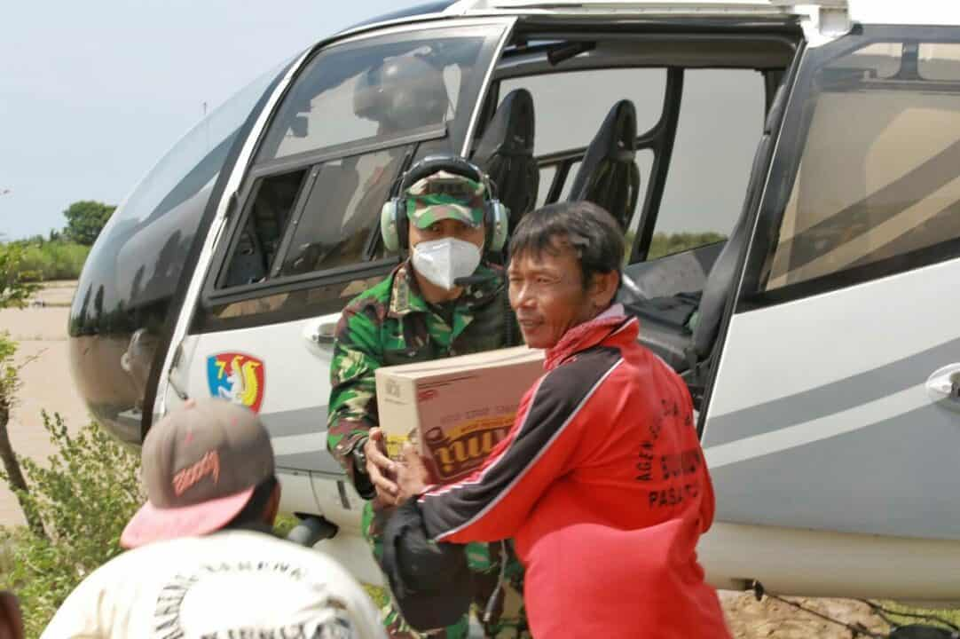 Helikopter Lanud Suryadarma, Lanjutkan Pedistribusian logistik Banjir Subang.