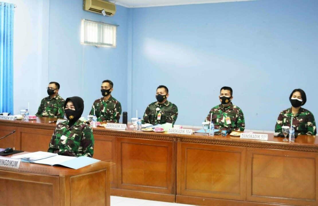 Danwingdikum beserta Jajaran Ikuti Rapim TNI AU Secara Virtual