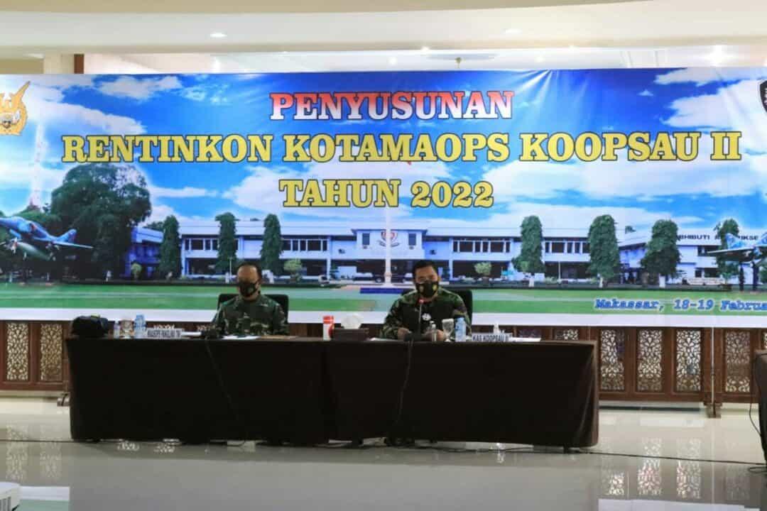 WAASOPS PANGLIMA TNI MELAKUKAN ASISTENSI PENYUSUNAN RENTINKON KOTAMAOPS TNI UNTUK TAHUN 2022 DI KOOPSAU II