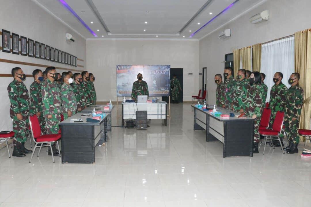 Komandan Lanud Sjamsudin Noor Ikuti Rakernis Koopsau II Secara Virtual