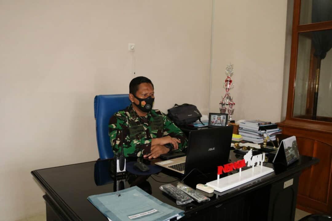 Danlanud Pangeran M. Bun Yamin Ikuti Pengarahan Aspotdirga Secara Virtual