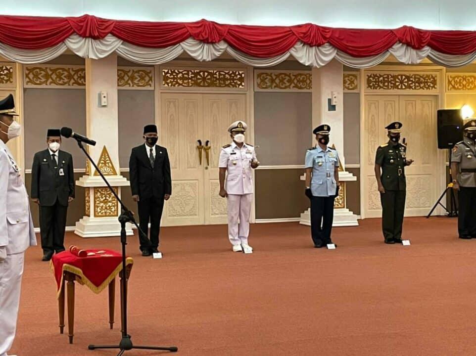 Lanud Rsn Hadiri Pelantikan Pejabat Wali Kota Dumai