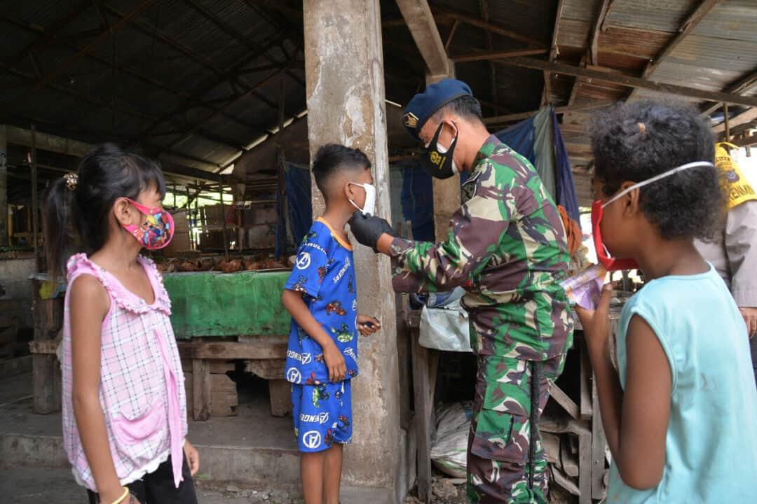 DDANLANUD EL TARI MENGIKUTI BANSOS SERENTAK TNI-POLRI DI WILAYAH NUSA TENGGARA TIMUR