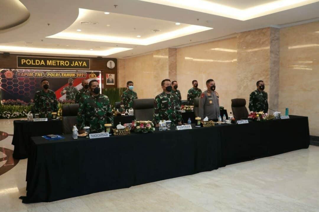 Pangkoopsau I Hadiri Rapim TNI Polri Tahun 2021 di Polda Metro Jaya