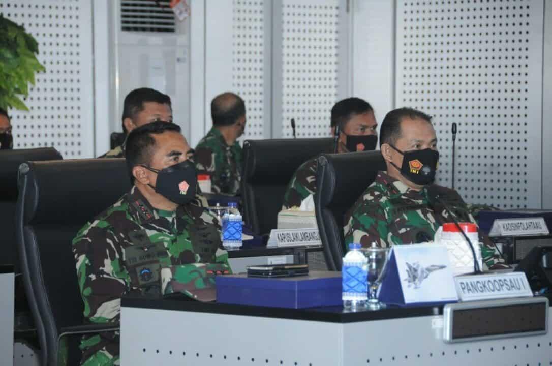 Pangkoopsau I Hadiri Rapim TNI Tahun 2021 Secara Virtual