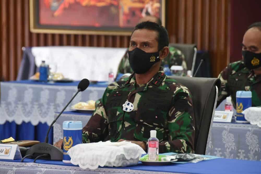 DANKOHARMATAU HADIRI RAPIM TNI TAHUN 2021 SECARA VIRTUAL