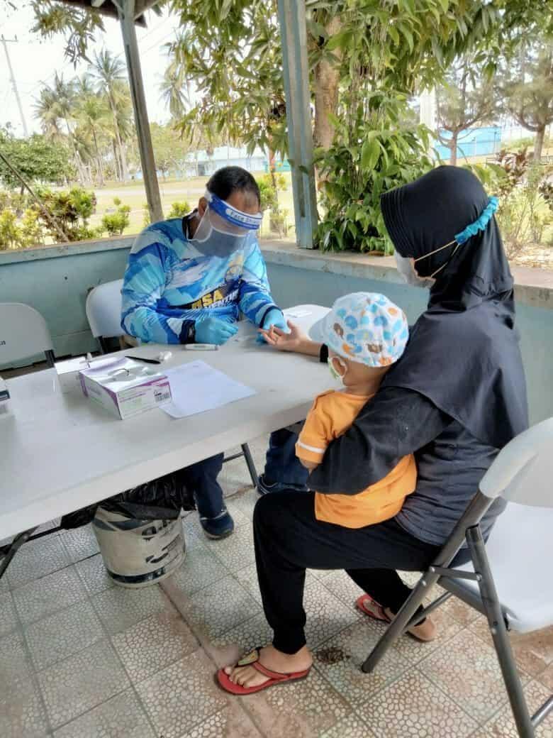 Sebanyak 83 Warga Lanud RSA Jalani Rapid Test Antibody Massal