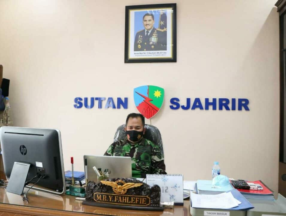 Komandan Lanud Sutan Sjahrir Ikuti Rapim TNI AU TA. 2021