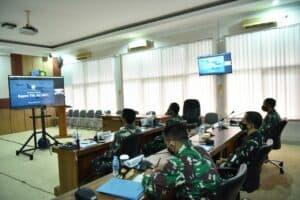 Danlanud Adisutjipto dan Jajaran Mengikuti Rapim TNI AU Tahun 2021 secara virtual.