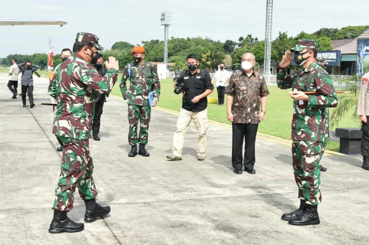 Danlanud Adisutjipto sambut Kunjungan kerja Panglima TNI dan Kapolri