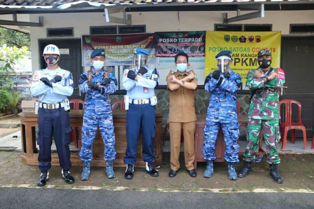 Lanud Suryadarma Tinjau Posko PPKM Mikro Covid-19 di Wilayah Kalijati