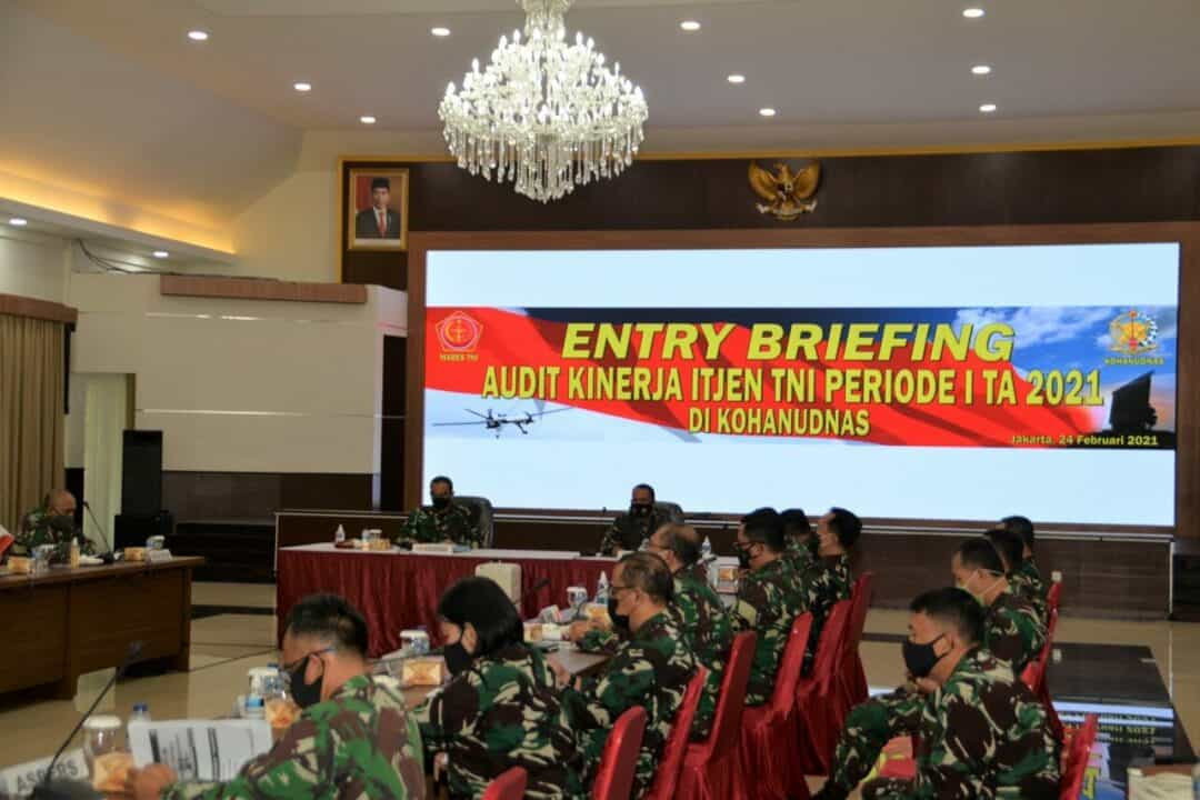 Entry Briefing Audit Kinerja Itjen TNI di Kohanudnas