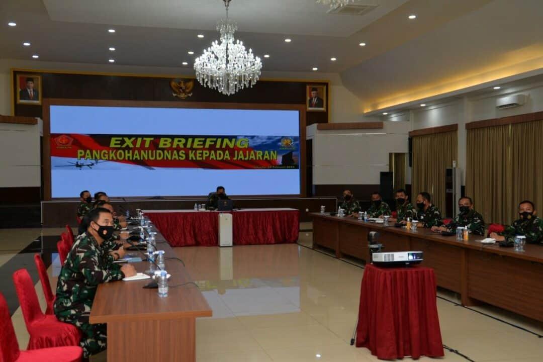 Pangkohanudnas Laksanakan Exit Briefing