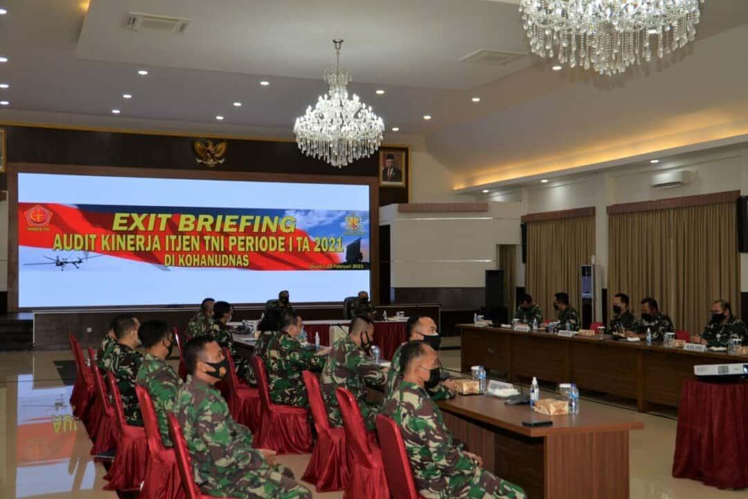 Exit Briefing Audit Kinerja Itjen TNI di Kohanudnas
