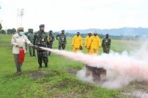Lanud J.B. Soedirman Gelar Latihan Penanggulangan Bahaya Kebakaran