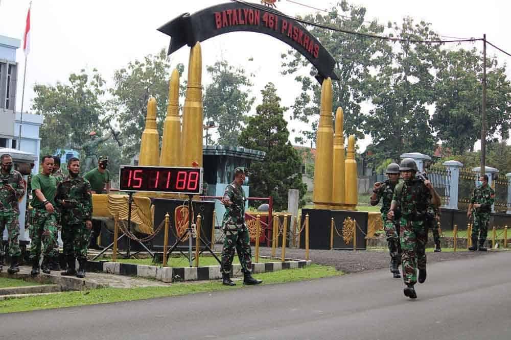 Yonko 461 Paskhas Gelar Lomba Ketangkasan Militer Antar Kompi
