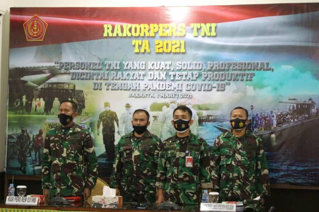 Kadispers Lanud Rsn Ikuti Rakorpers TNI Tahun 2021