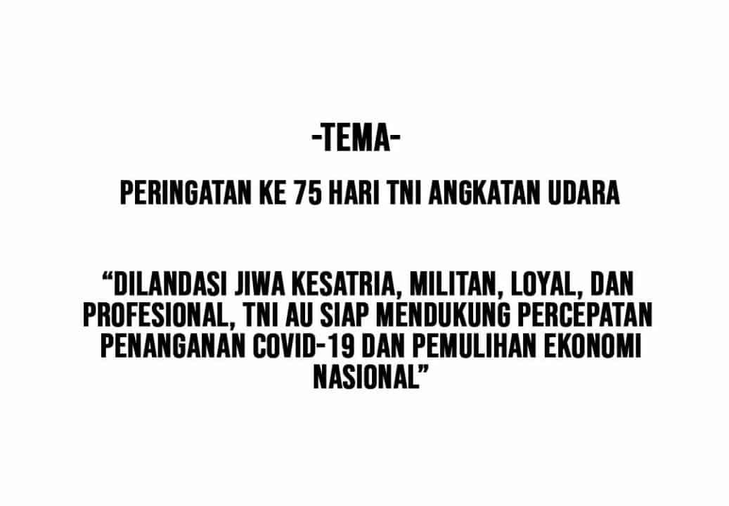 TEMA HUT KE-75 TNI AU
