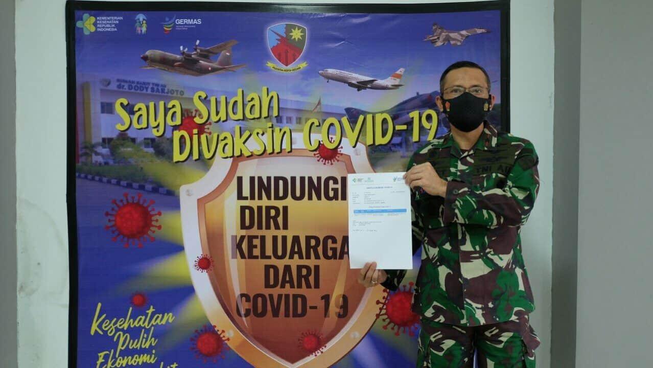 Danlanud Sultan Hasanuddin Vaksinasi covid-19 di RSAU dr.Dody Sardjoto