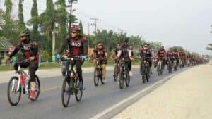 Yonko 462 Paskhas Latih Ketahanan Tubuh Dengan Gowes 54 Km