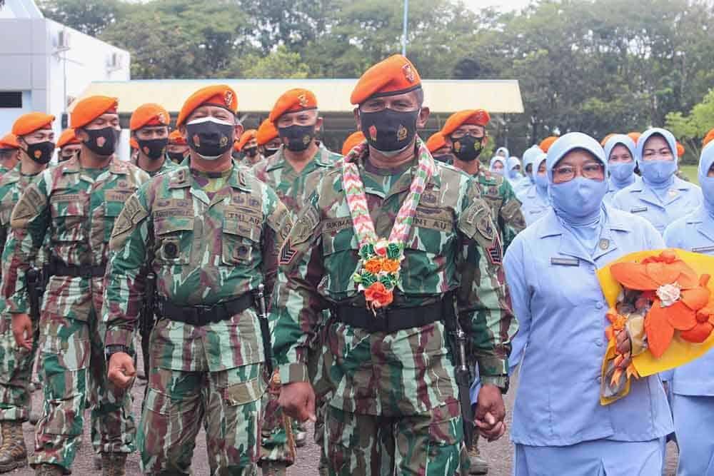 Tradisi Pelepasan Purna Tugas Prajurit Batalyon Komando 466 Paskhas