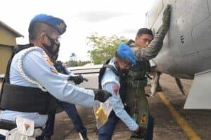 Manuver Lapangan Alap Gesit 2021, Lanud Supadio Simulasikan Force Down Pesawat Asing