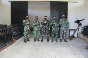 Pengecekan Senjata dan Amunisi Oleh Danlanud Leo Wattimena Morotai