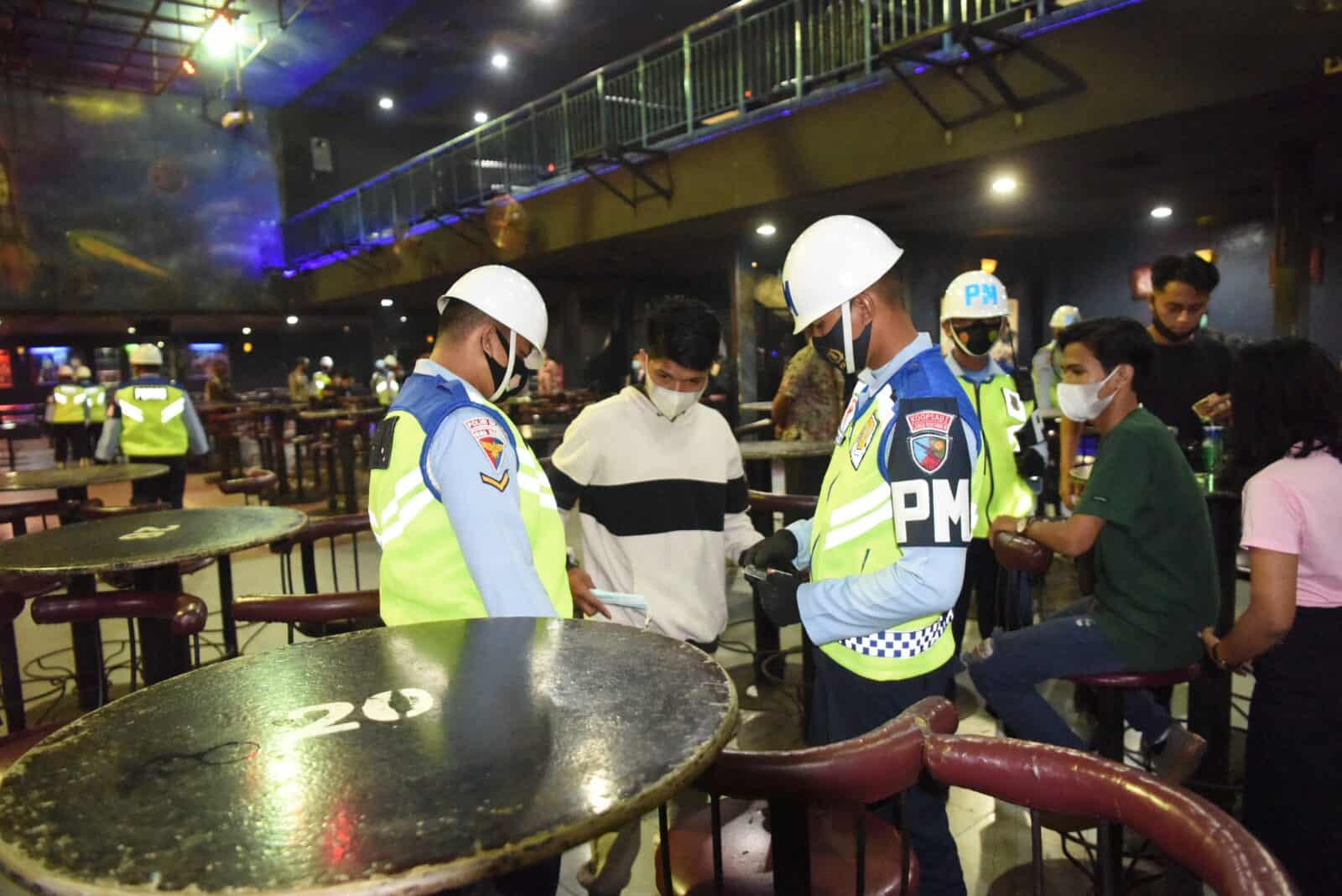 Menjelang HUT Ke-75 TNI AU, Pom Lanud Rsn Gelar Gaktib Hiburan Malam