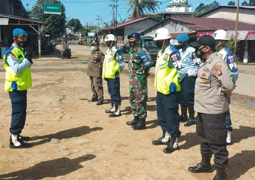 Pomau Lanud Had Gelar Razia Gabungan Prokes
