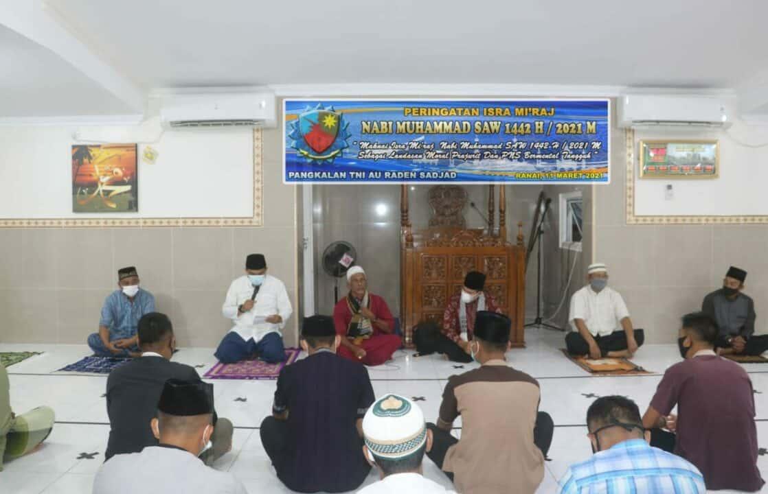 Lanud RSA Peringati Isra Mi'raj 1442/H Nabi Muhammad SAW 1442 H/2021 M