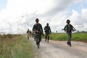 Prajurit Lanud Supadio Latihan PHH dan Kamhanlan
