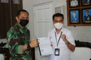 Komandan Lanud Dhomber Terima Kunjungan Ketua MOI Kaltim