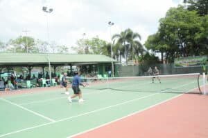 Danlanud Rsn Ikut serta Dalam Pertandingan Tenis Memperingati HUT Ke-62 Korem 031/WB