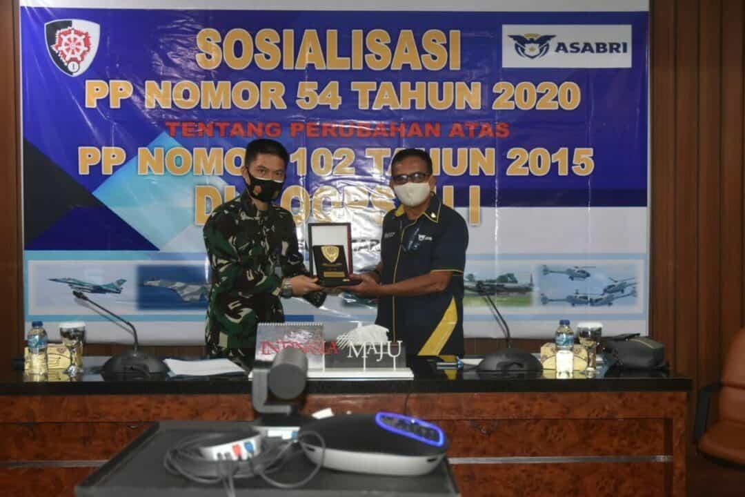 PT Asabri (Persero) Sosialisasikan PP 54 Tahun 2020 di Makoopsau I