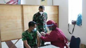 Rsau Dr. Nourman T. Lubis Lanud Sulaiman Lakukan Vaksinasi Covid-19 Tahap I