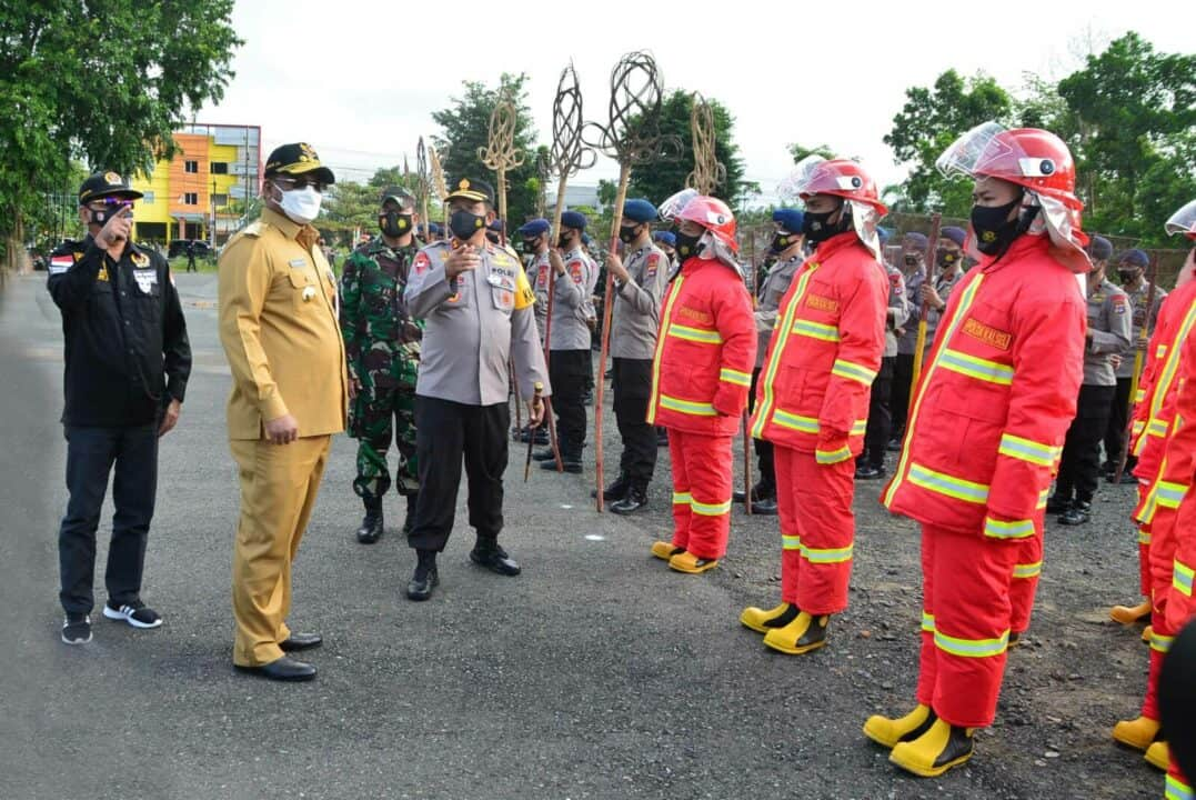Antisipasi Bencana Karhutla, Provinsi Kalimantan Selatan Gelar Apel Kesiapan Penanggulangan Kebakaran Hutan dan Lahan