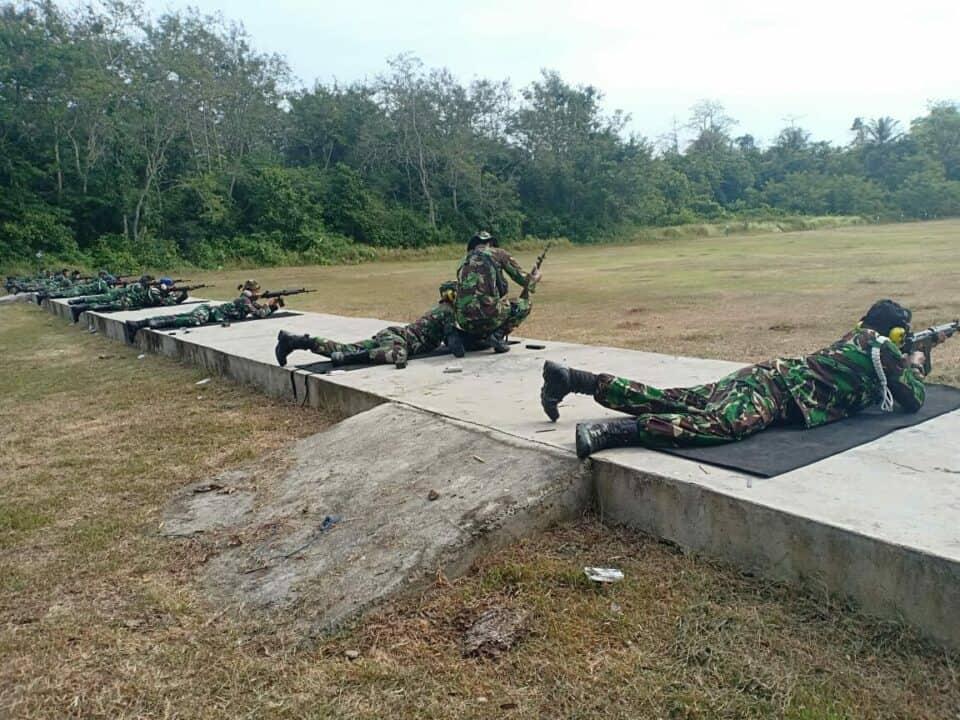 Prajurit Lanud Mus Tingkatkan Keterampilan, Ketepatan Sasaran Dalam Latihan Menembak
