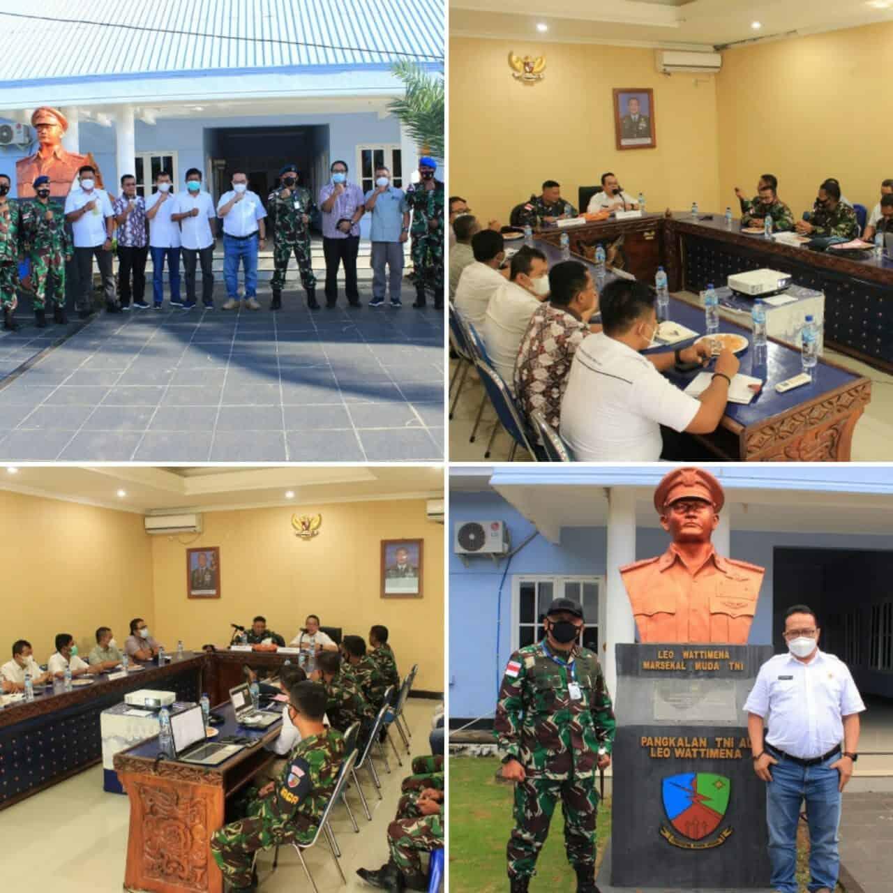 Danlanud Leo Wattimena Menerima Kunjungan Kakanwil BPN Provinsi Maluku Utara