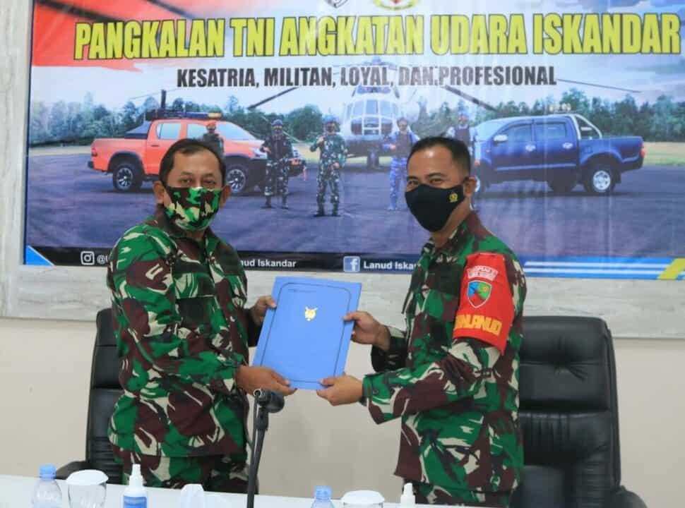 Exit Briefing Wasrikkap Itjenau di Lanud Iskandar