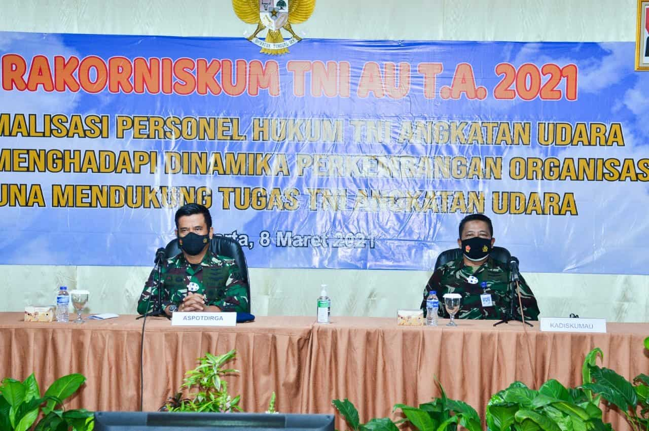 Rakorniskumau Tahun 2021, Aspotdirga Kasau: Perwira Hukum TNI AU Harus Memiliki Kapabilitas Hukum dan Perundang-undangan