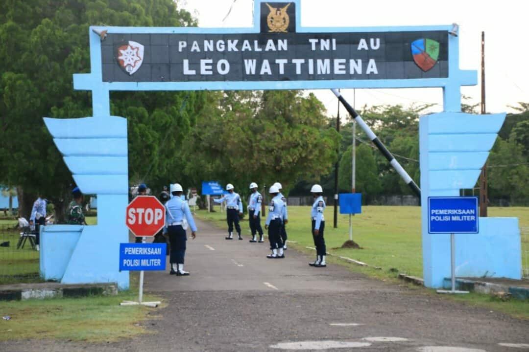Tegakkan Disiplin, Satpomau Lanud Leo Wattimena Adakan Operasi Gaktibplin