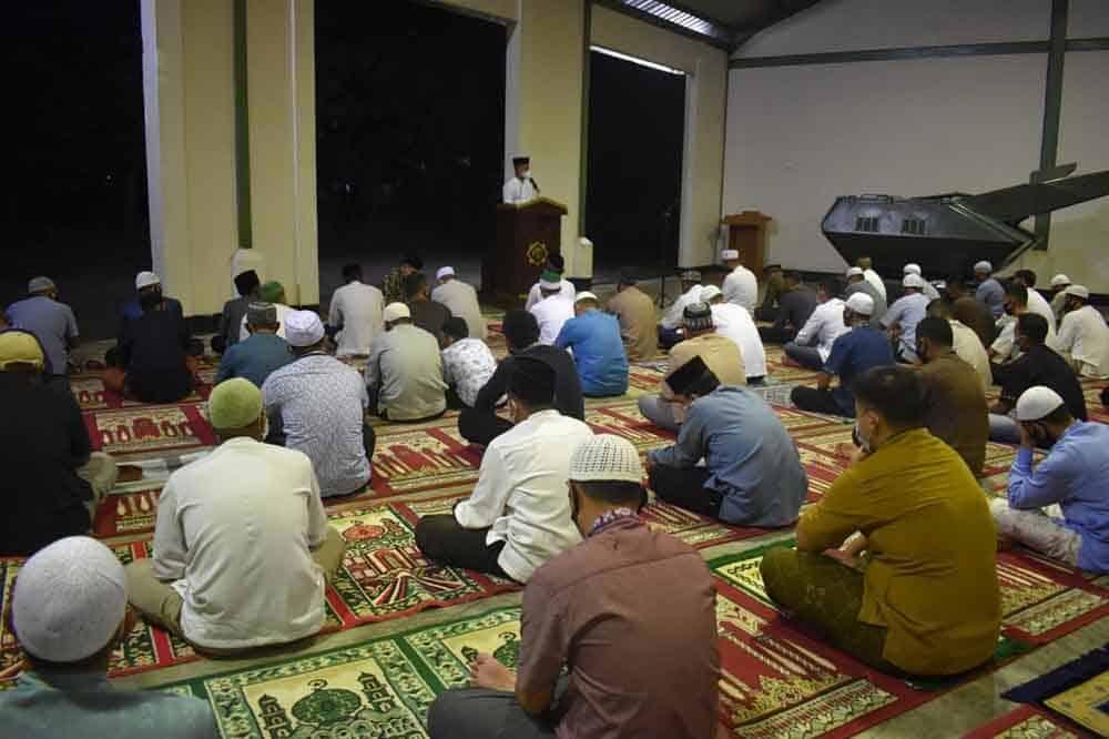 Peringatan Isra Mi'raj Nabi Muhammad SAW 1442 Hijriah di Denhanud 472 Paskhas
