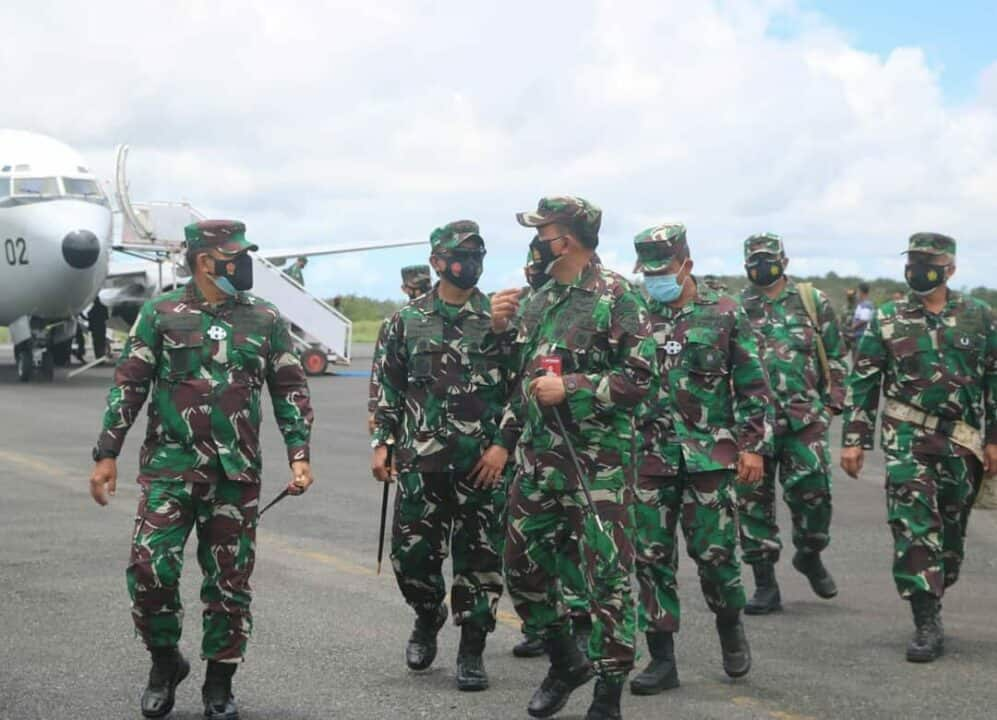 Danlanud RSA Sambut Kunjungan Pangkogabwilhan I dan Pangkoopsau I di Natuna