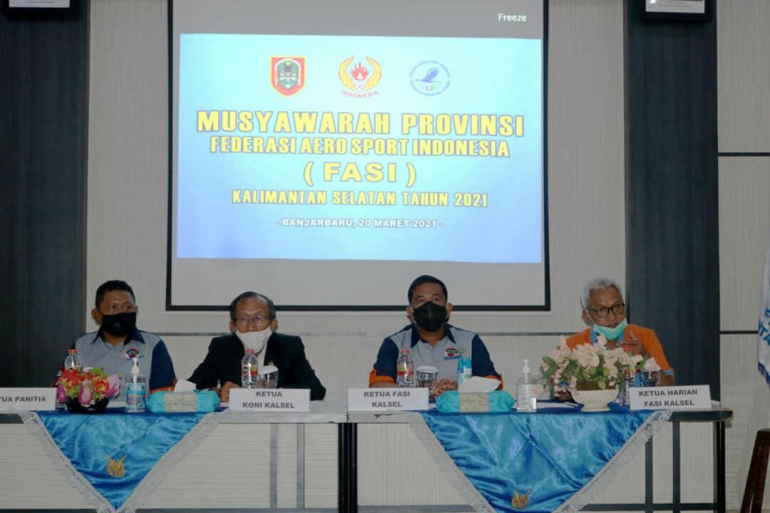 FASI Kalsel Adakan Musprov di Lanud Sjamsudin Noor, Berharap FASI Bisa Harumkan Nama Kalsel
