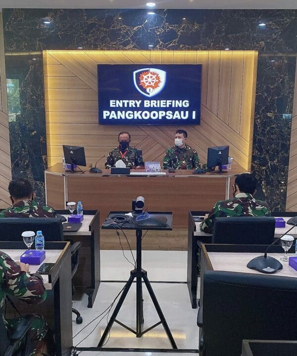 Pangkoopsau I Yang Baru Marsma TNI Tedi Rizalihadi Awali Penugasan Laksanakan Entry Briefing