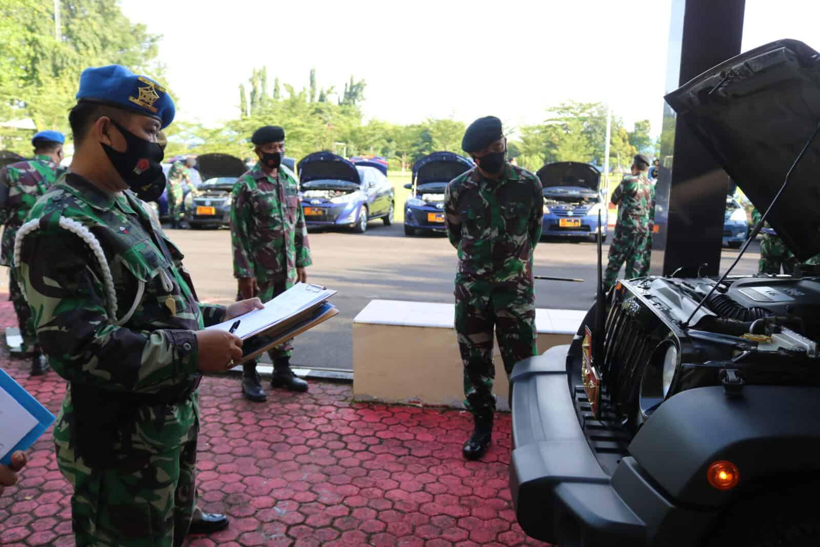 Pemeriksaan dan Pencekan Kendaran Dinas Kosekhanudnas II