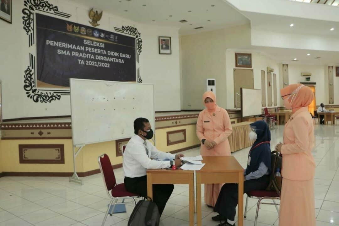 Casis SMA Pradita Dirgantara Panda Lanud Iswahjudi Jalani Tes Wawancara Litpers