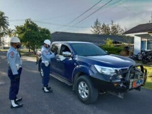 Satpomau Lanud Raden Sadjad Laksanakan Giat Gaktibplin Kendaraan Bermotor