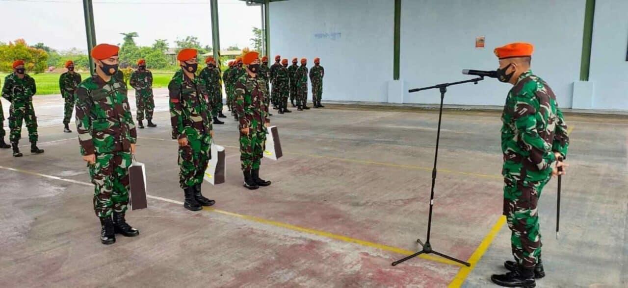Komandan Detasemen Hanud 473 Paskhas Pimpin Apel Pagi Prajurit Denhanud 473 Paskhas